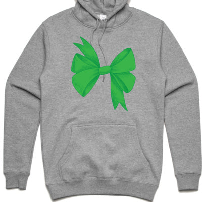 Green Bow Adult Hoodie