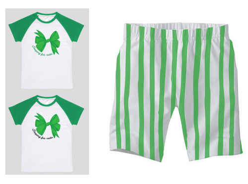 PJ Set: Little's Bow Tee and Shorts