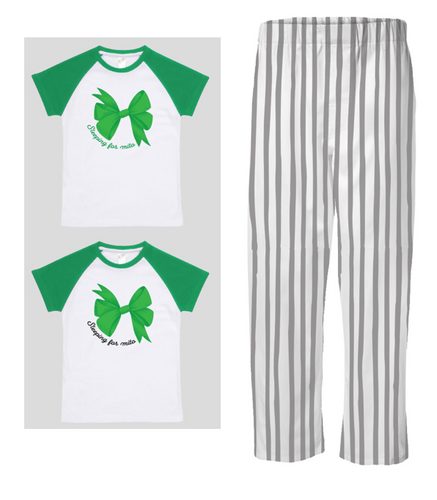 PJ Set: Little's Bow Tee and Pants