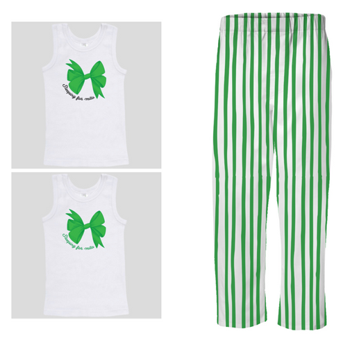 PJ Set: Little's Bow Singlet and Pants