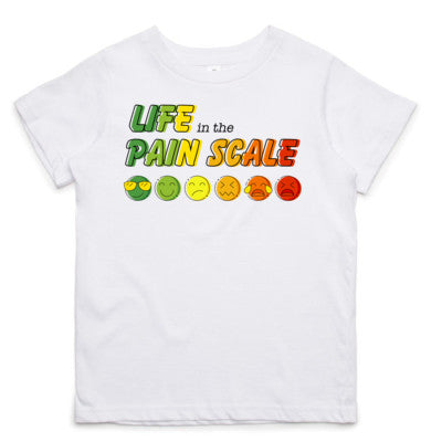 Life in the Pain Scale Little Tee