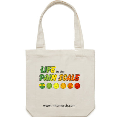 Life in the Pain Scale Large Tote