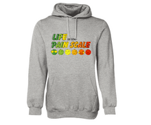 Life in the Pain Scale Adult Hoodie