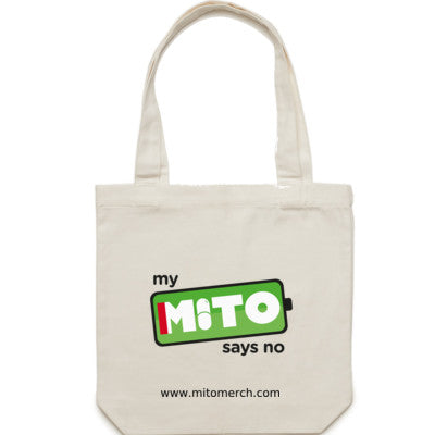 My Mito Says No Large Tote