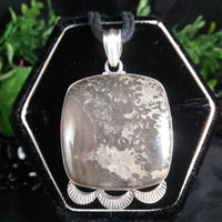 Volcanic Stone in Sterling Silver Pendant (14.4 g)