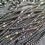 Black Agate Bead Strands (4-5 mm round)