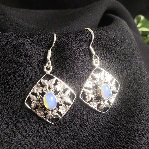 Ethiopian Opal in Sterling Silver Earrings