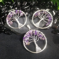 Amethyst Tree of Life Pendant