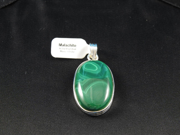 Malachite Sterling Silver Pendant (24)