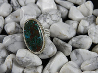 Chrysocolla Sterling Silver Ring (Size 8.5)