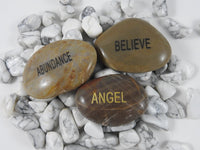 Word Stone (Angel, Abundance, or Believe)