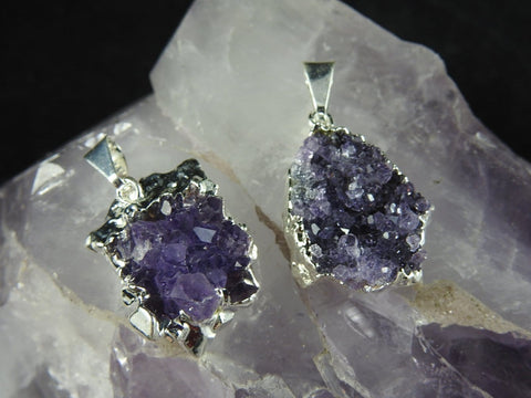Amethyst Cluster Pendant (Bulk Available)