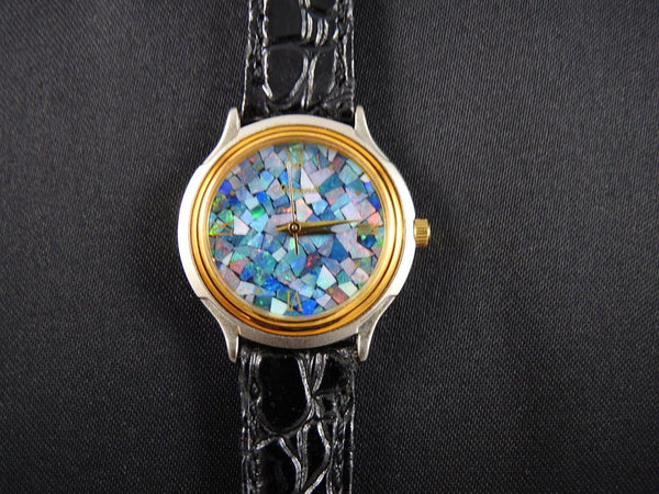 Mosaic Opal Women's Watch (Leather Strap)