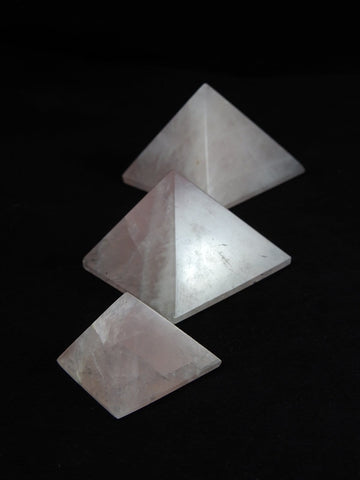 Rose Quartz Gemstone Pyramid (Various Sizes)