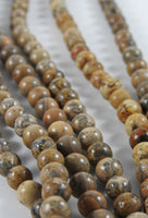 Brown Jasper (8mm Rounds) Bead Strand