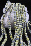 Yellow Turquoise (8mm Rounds) Bead Strand