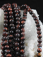 Red Tigers Eye (8mm Rounds) Bead Strand
