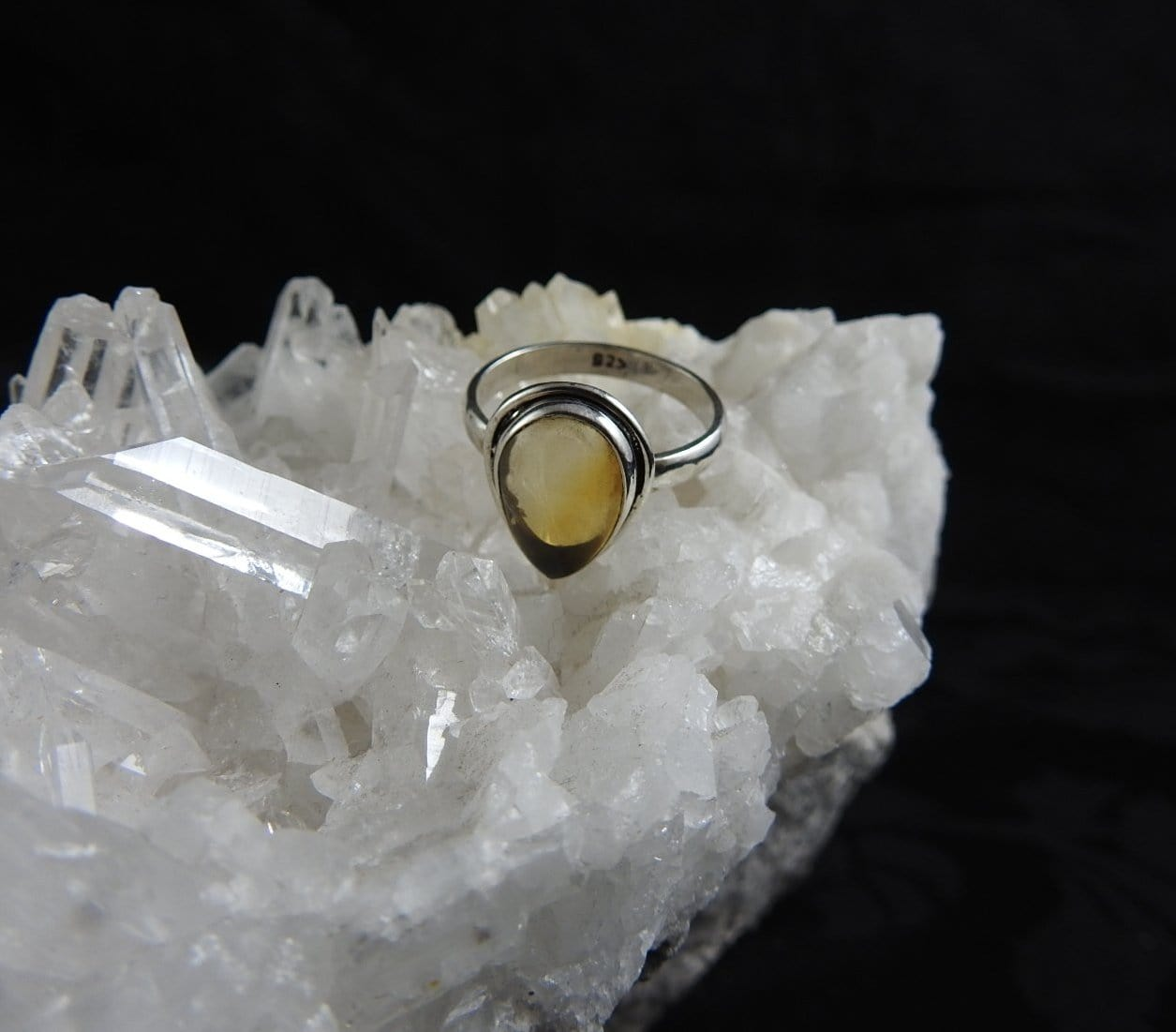 Citrine Sterling Silver ring (4683)
