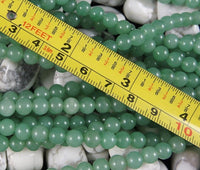 Green Aventurine (3-4 mm or 6mm Rounds) Bead Strand