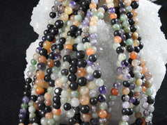 Mixed Gemstone (4-7mm Rounds) Bead Strand