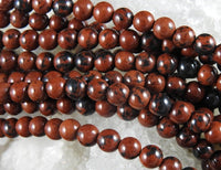Mahogany Obsidian (6mm or 8mm Rounds) Bead Strand