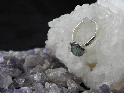 Aquamarine Sterling Silver Ring (4701)