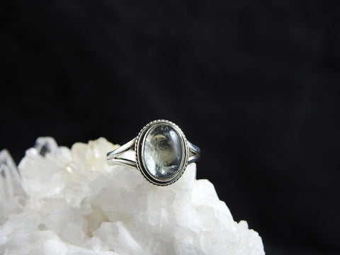 Aquamarine Sterling Silver Ring (4703)