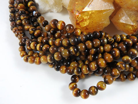 Tigers Eye (6-8mm Rounds) Bead Strand