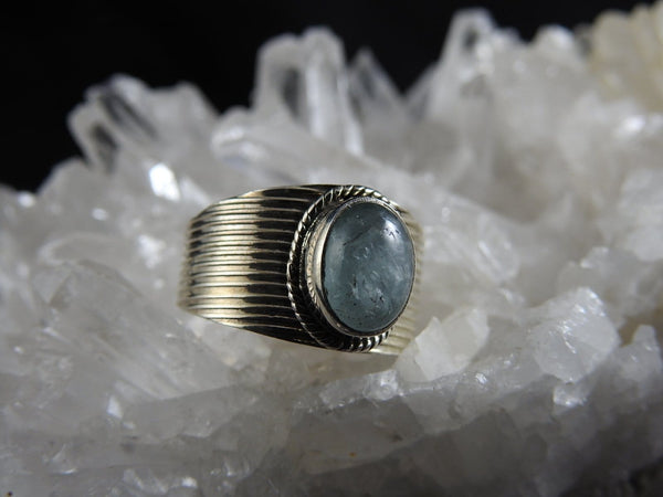Aquamarine Sterling Silver Ring (4706)
