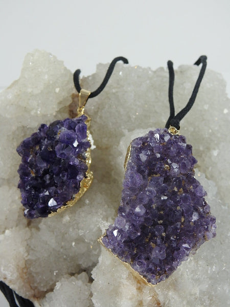 Amethyst Cluster Necklace (Bulk Available)