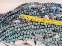 Matte Blue Howlite (8mm Rounds) Bead Strand