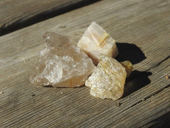 Rutilated Quartz in sunlight