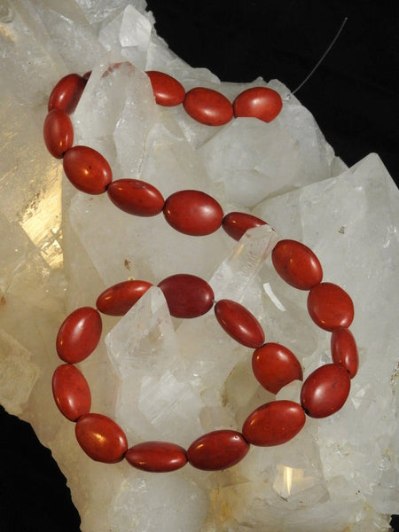 Red Howlite Bead Strand (Dyed)