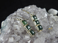 Green Kyanite & Sterling Silver Earrings (82)