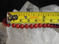 Red Magnesite Bead Strand (Dyed)