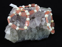 Cherry Quartz & Mother of Pearl Bracelet