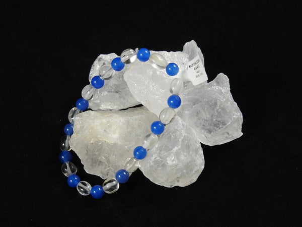 Blue Chalcedony and Clear Quartz bracelet