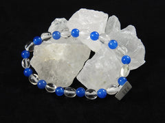 Clear Quartz and Blue Chalcedony bracelet