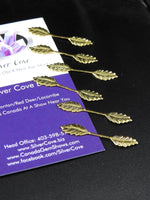 Golden Leaf Necklace Bails (6 pk)