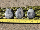 Grey Marble Cabochons (Top-Drilled)