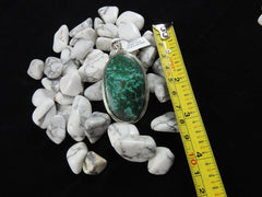 Chrysocolla in Sterling Silver Pendant (4129)