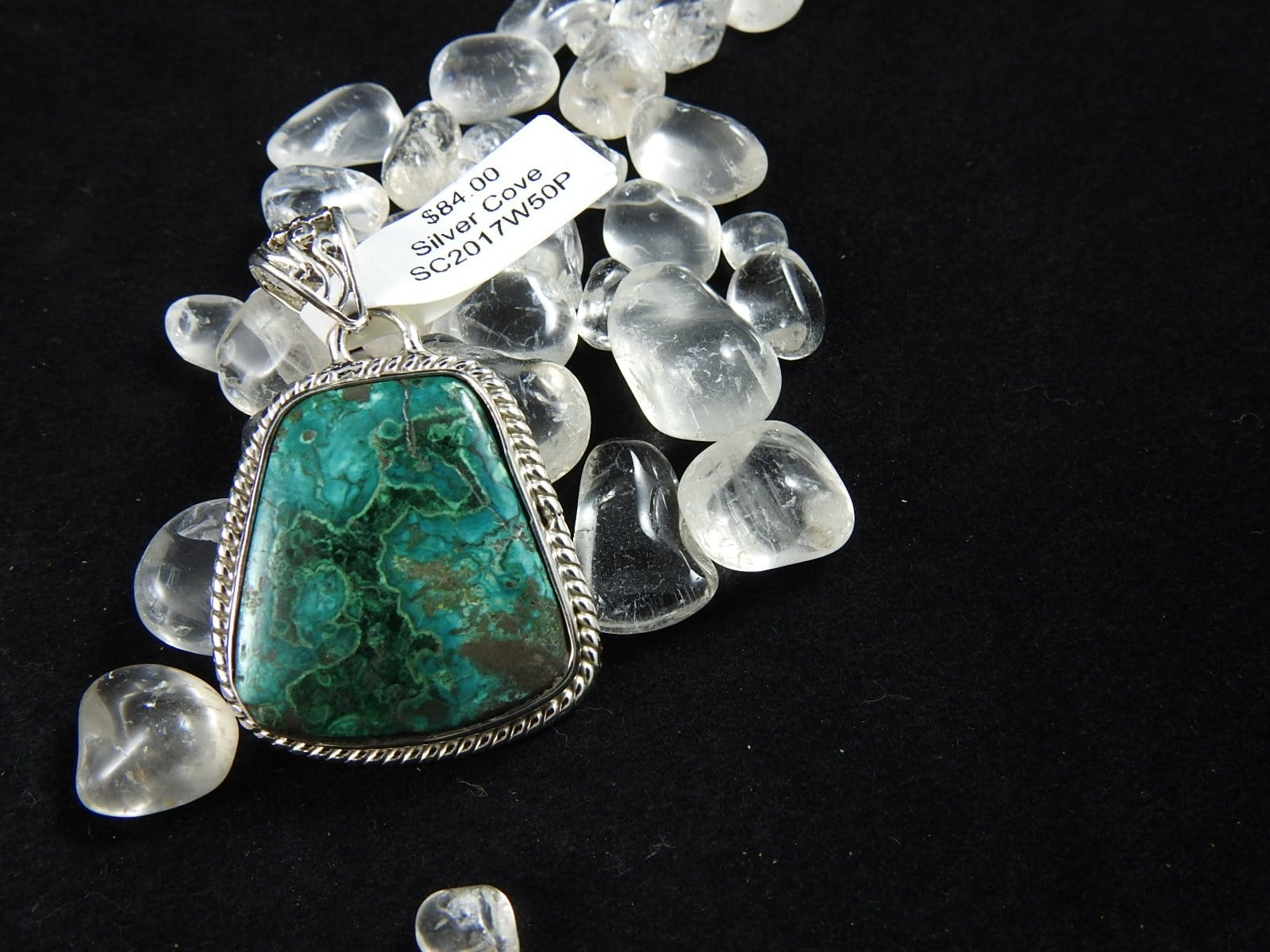 Chrysocolla pendant set in Sterling Silver