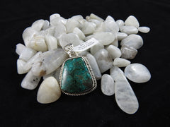 Chrysocolla in Sterling Silver Pendant (4130)