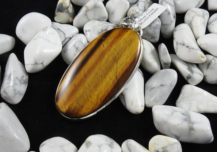 Tiger's Eye pendant howlite