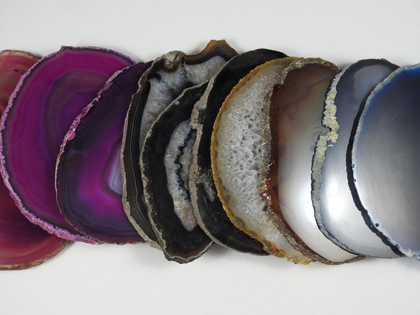 "Mixed Color Agate Slabs 5"" to 7"" (10 pc lot)"