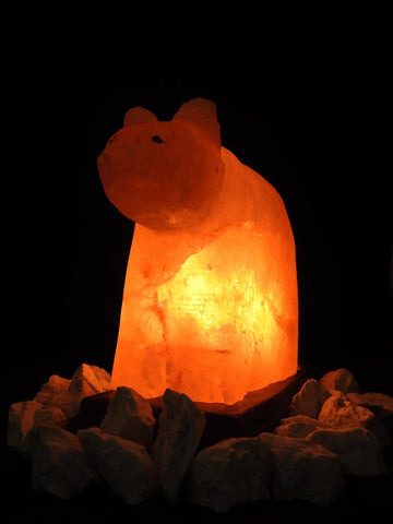 Pink Himalayan Salt Lamp (Bear-Shaped)