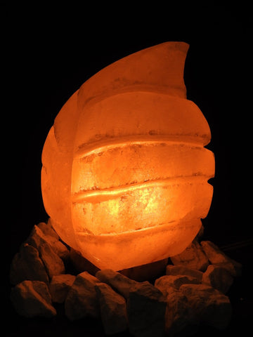 Pink Himalayan Salt Lamp (Leaf-Shaped)
