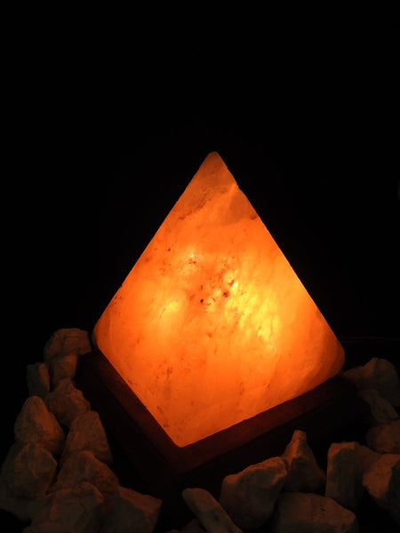 Pink Himalayan Salt Lamp (Pyramid-Shaped)