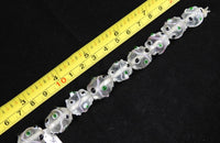 Clear (Green & Black Accent) Glass Bead Strand (2024)