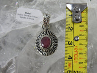 Ruby Pendant in Sterling Silver (574)
